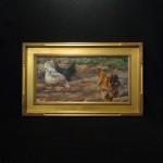 """GRANDMA'S CHICKENSTodd Williams, AmericanOil on linen31"""" x 26"""" framed$3,950"""