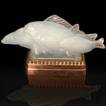 "GROUP DE POISSONS192814.5"" x 6""$4,900 w/chrome light base"