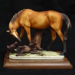 "MARE AND FOAL169C6 3/4""$625"