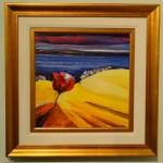 "SHORELINEMaya Green, Ukrainian, (1957- )Oil on canvasSigned in pigment25"" x 25""$2,750 framed"