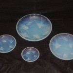 "SWALLOW PLATESSmall 3 5/8""  $75Medium 4 1/2""  $95Tray 6 1/2""  $205 Large Tray 7 7/8""  $320"