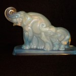 "GROUP OF ELEPHANTS19288"" x 10""$4,200 w/chrome base$3,400 without chrome base"