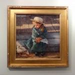 """TREASURED MOMENTSTodd Williams, AmericanOil on linen27 1/2"""" x 27 1/2"""" framed$6,200"""